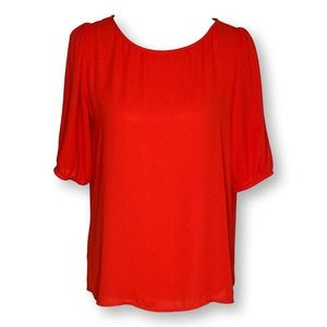 LOFT Puff Sleeve Top Small